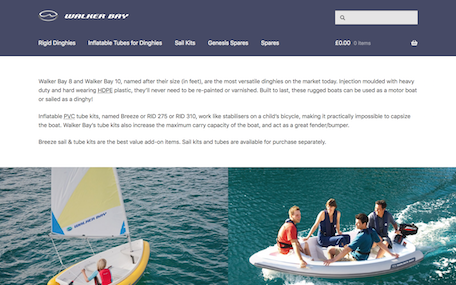 Walker Bay Shop online store home page